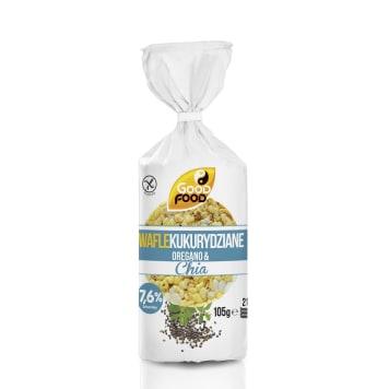 GOOD FOOD Wafle cienkie kukurydziane z chią i oregano 105g