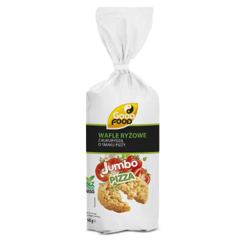GOOD FOOD Jumbo Wafle grube ryżowe z kukurydzą o smaku pizzy 145g