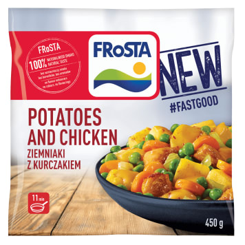 FROSTA Danie ziemniaki z kurczakiem mrożone 450g