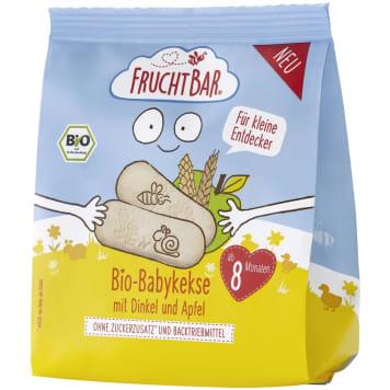 FRUCHTBAR Ciasteczka orkiszowo-pszenne jabłkowe po 8 miesięcu BIO 100g