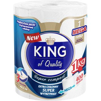 KING of Quality Ręcznik papierowy 1 rolka 400 listków 1szt