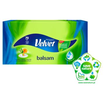 VELVET Balsam Chusteczki higieniczne, 70szt. 1szt