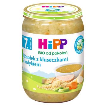 HIPP Zupka Rosołek z kluseczkami i indykiem BIO - po 7 miesiącu 190g