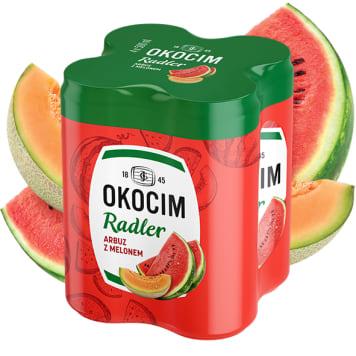 OKOCIM RADLER Piwo w puszce o smaku arbuza i melona 4x500ml 2l