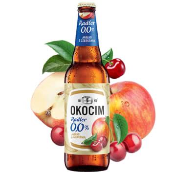 OKOCIM RADLER Piwo bezalkoholowe Jabłko z czereśnią (cena zawiera 0,5zł kaucji za butelkę) 500ml