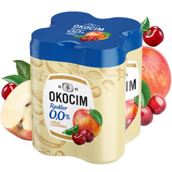 OKOCIM RADLER Piwo bezalkoholowe Jabłko z czereśnią 4x500ml 2l