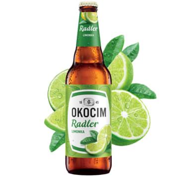 OKOCIM RADLER Piwo z limonką (cena zawiera 0,50 zł kaucji za butelkę) 500ml