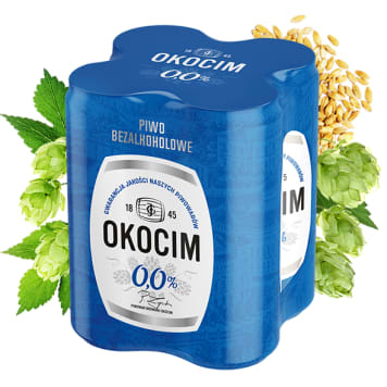 OKOCIM Piwo bezalkoholowe 4x500ml 2l