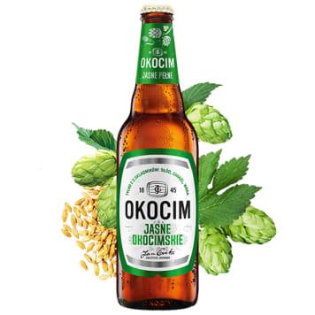 OKOCIM Jasne Okocimskie piwo w butelce (cena zawiera 0,50 zł kaucji za butelkę) 500ml