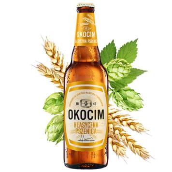 OKOCIM Klasyczna pszenica Piwo (cena zawiera 0,5zł kaucji za butelkę) 500ml