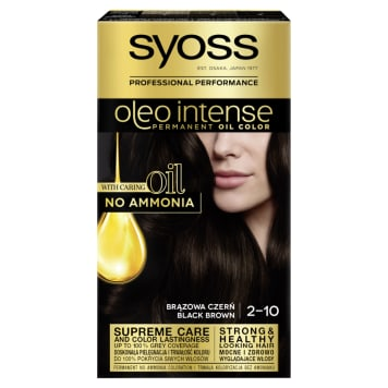 SYOSS Oleo Intense Farba do włosów 2-10 Brązowa czerń 50ml