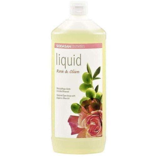 Sodasan mydło różano- oliwkowe w płynie bio