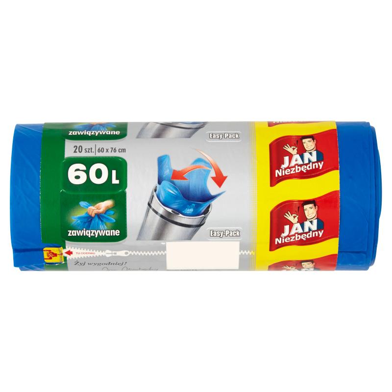 JAN NIEZBĘDNY Easy-Pack Worki na śmieci 60l 20 szt.