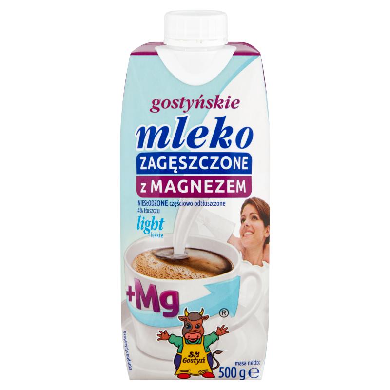 SM GOSTYŃ Mleko zagęszczone niesłodzone 4% Light z magnezem