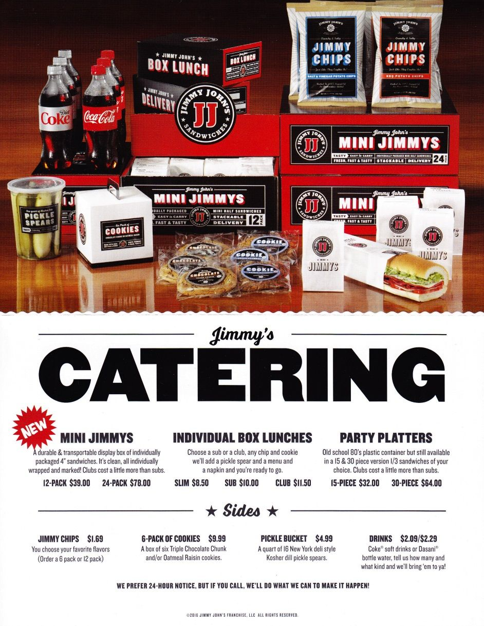 jimmy johns catering