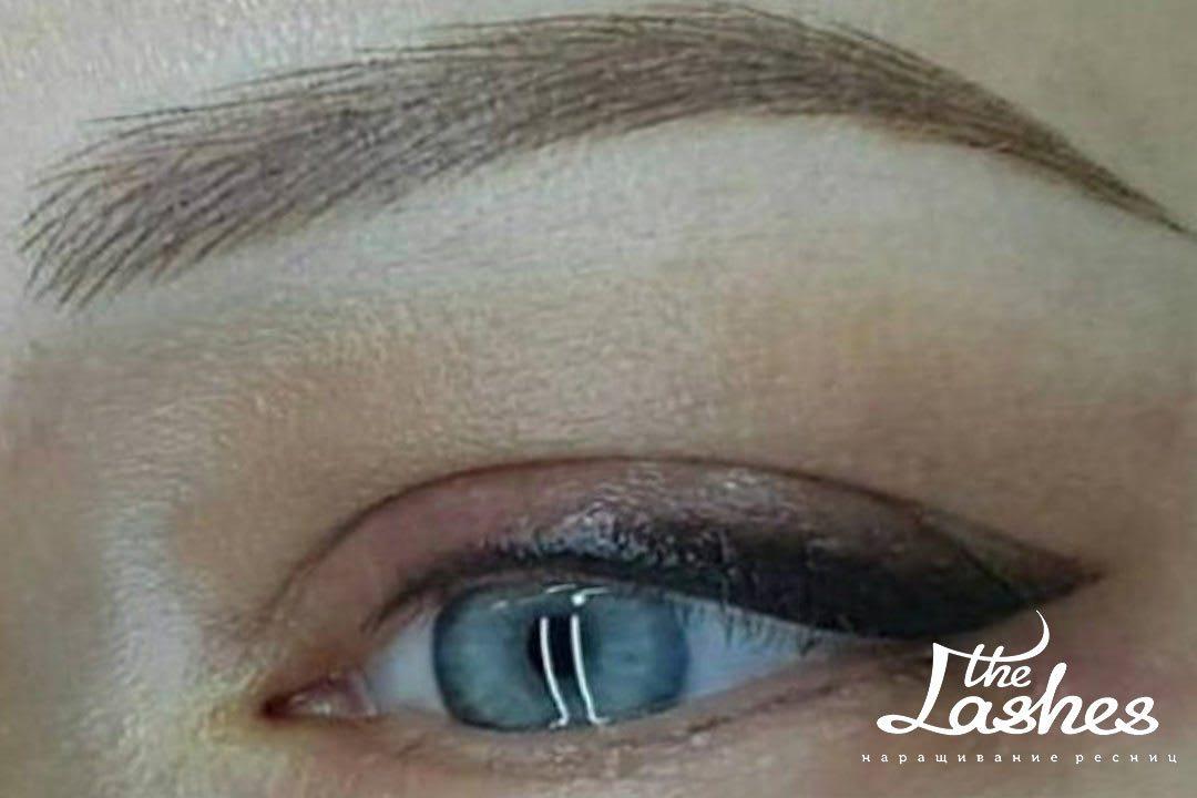 Волосковый татуаж бровей - The Lashes
