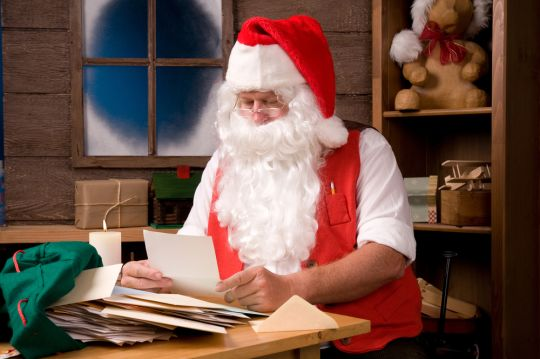 Santa Claus checking list