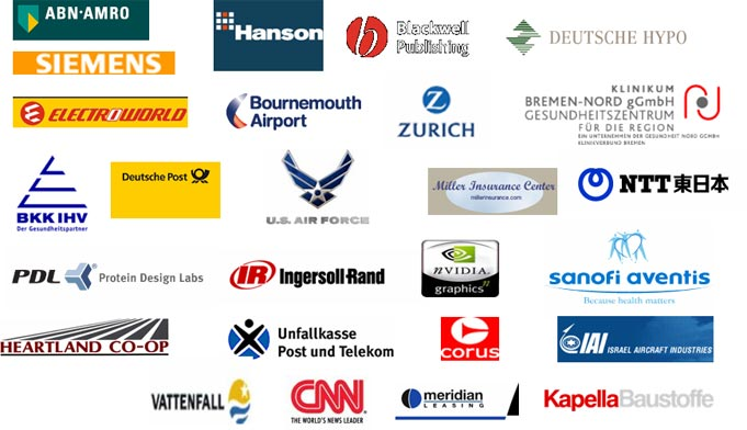 Sys-Manage Reference Customer Logos