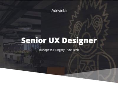 Senior UX Designer @ Adevinta Hungary