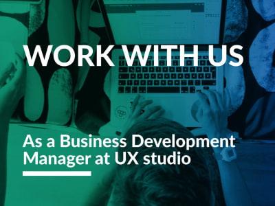 Business Development Manager @ UXstudio