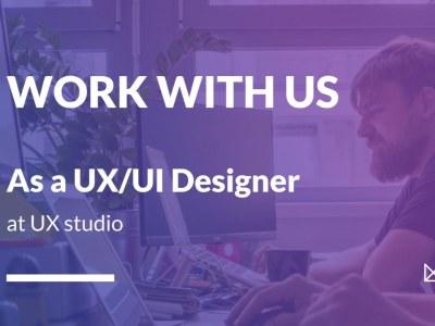 Product Designer (UX & UI) @ UXstudio