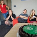 Marcsi, Laci, Miki, Kitti             - és a NAV-torta :)