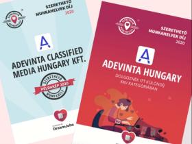 Adevinta Hungary - 2020 Példakép | Dolgoznék itt