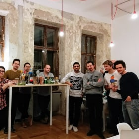 Welcome party, new office room :)
