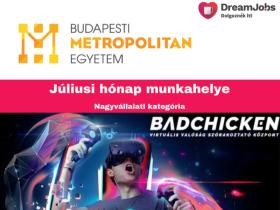Budapesti Metropolitan Egyetem - 2019 július hónap munkahelye