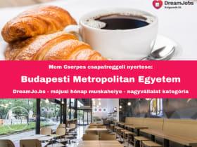 Budapesti Metropolitan Egyetem - Hónap munkahelye 2019. május