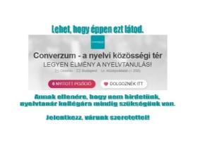 Converzum - a nyelvi közösségi tér - Jelentkezz!