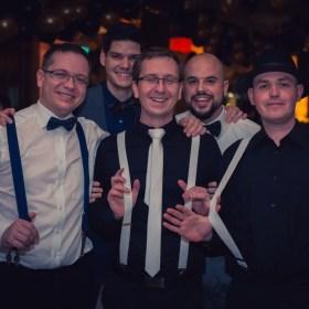 A recepciót boldogító kollegák egy része