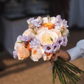 Dori Legradi Flowers - Színes esküvői csokor