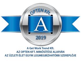 Get Work Trend Kft. - OPTEN DÍJ - 2019.