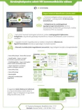 H1 Systems Mérnöki Szolgáltatások Kft. - Járványhelyzetre való reagálás