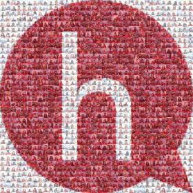 Hearsay Systems - Hearsay employees forming logo