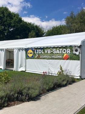 Lidl Magyarország - VB-sátor a Lidl dolgozóknak