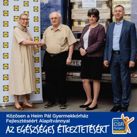 Lidl Magyarország - 60 milliós adomány | Heim Pál