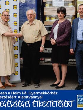 Lidl Magyarország - 120 milliós adomány | Heim Pál