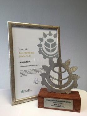 MOL Limitless Mobility Kft. - Fenntartható jövőért díj 2018