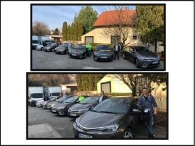 Online Márkaboltok - Munkatársaink, új autóikkal.