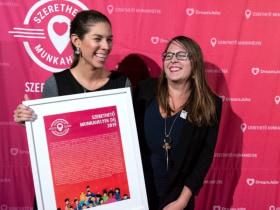 Szerethető Munkahelyek Díj - Vidáman a díjátadón