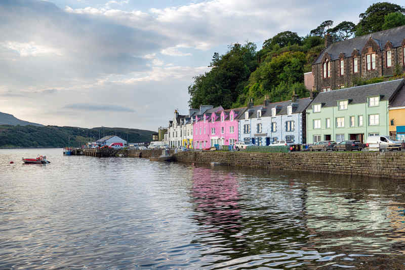 Portree on Isle of Skye, Scotland