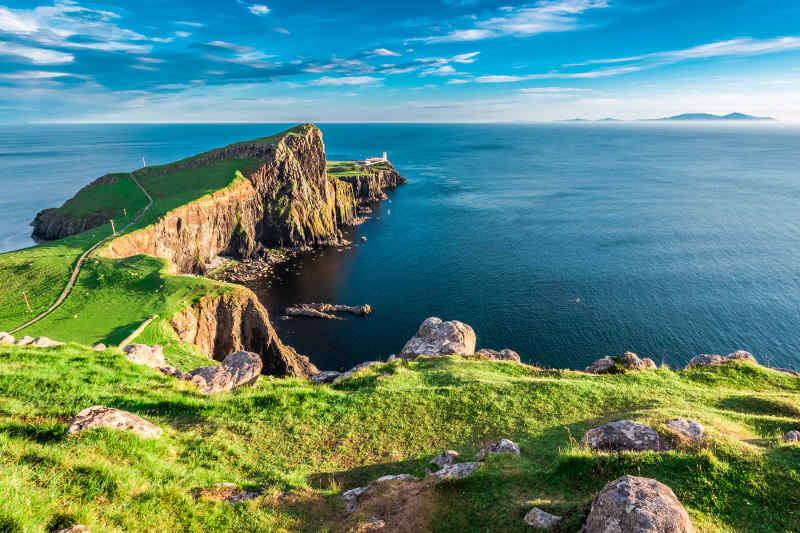 Neist Point on Isle of Skye, Scotland