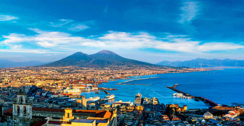 Mount Vesuvius in Italy