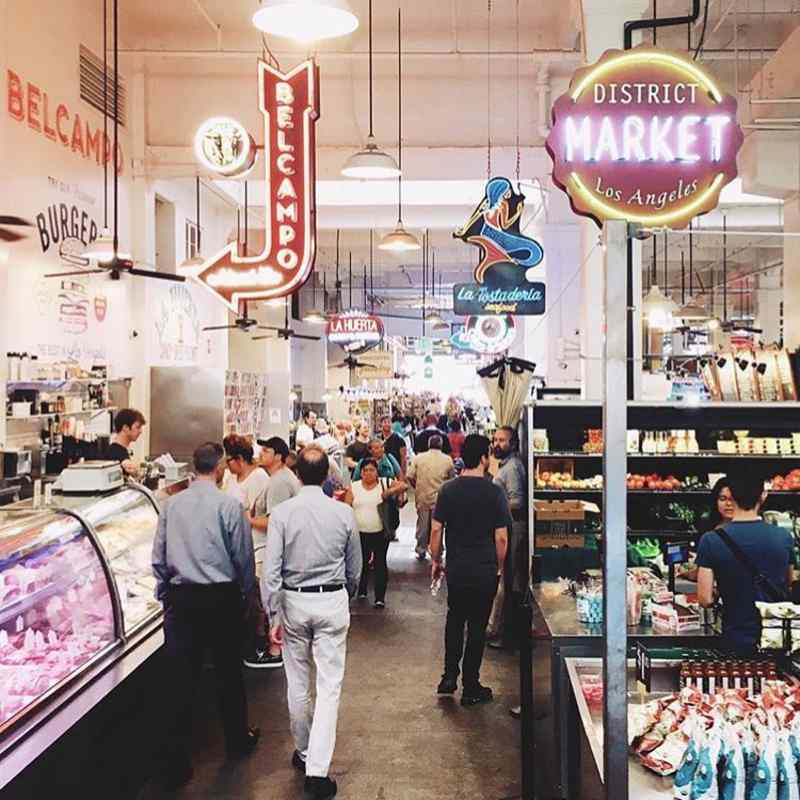 Grand Central Market in Los Angeles, USA