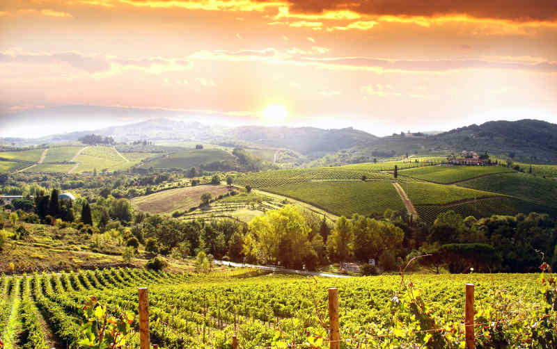 Chianti Region in Italy