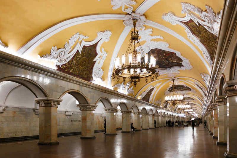 Komsomolskaya Train Station in Moscow, Russia