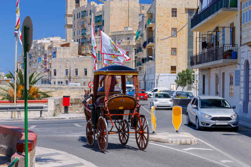 Horse-drawn carriage in Valletta