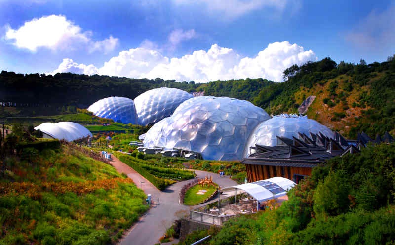 Eden Project in Cornwall, United Kingdom